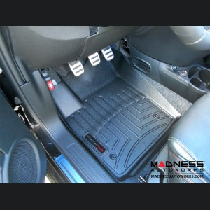 FIAT 500 Floor Liners - All Weather - WeatherTech - Front Set - Black