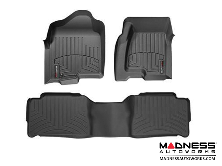 FIAT 500 Floor Liners - All Weather - WeatherTech - Front and Rear Set - Black