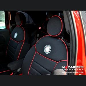 FIAT 500 Seat Covers - Front Seats - Custom Neoprene Design - Sport/ 500T Models