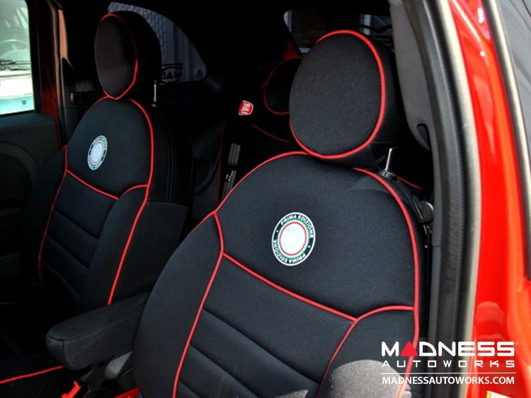 FIAT 500 Seat Covers - Front Seats - Custom Neoprene Design - Pop / Lounge Model