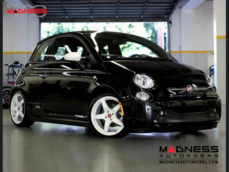 fiat 500 custom wheels by neu f rse05 17 white finish. Black Bedroom Furniture Sets. Home Design Ideas