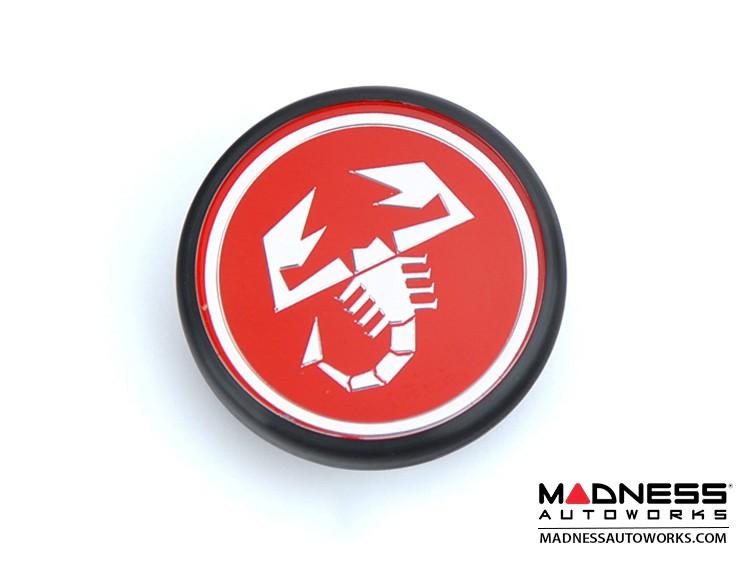 FIAT 500 ABARTH Center Wheel Cap (1) - Red w/ Scorpion Logo