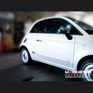 """FIAT 500 Retro Wheel by FIAT (1) - 16"""" Tech Silver painted & polished Forged Aluminum Wheel"""