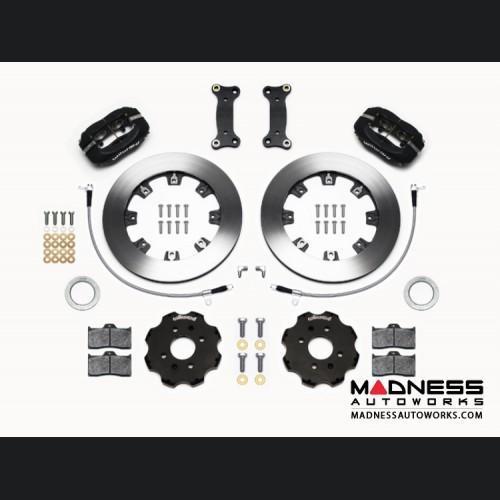 FIAT 124 Spider Brake Conversion Kit - Wilwood Dynalite 4 Piston Front Brake Kit (Black Calipers / Plain Face Rotors)