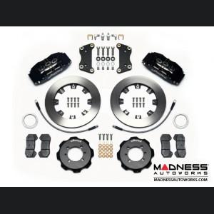 FIAT 500 Brake Conversion Kit - Wilwood Dynapro 6 Piston Front Brake Kit (Black Powder Coat Calipers / Plain Faced Rotors)