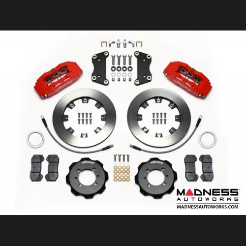 FIAT 500 Brake Conversion Kit - Wilwood Dynapro 6 Piston Front Brake Kit (Red Powder Coat Caliper / Plain Faced Rotors)