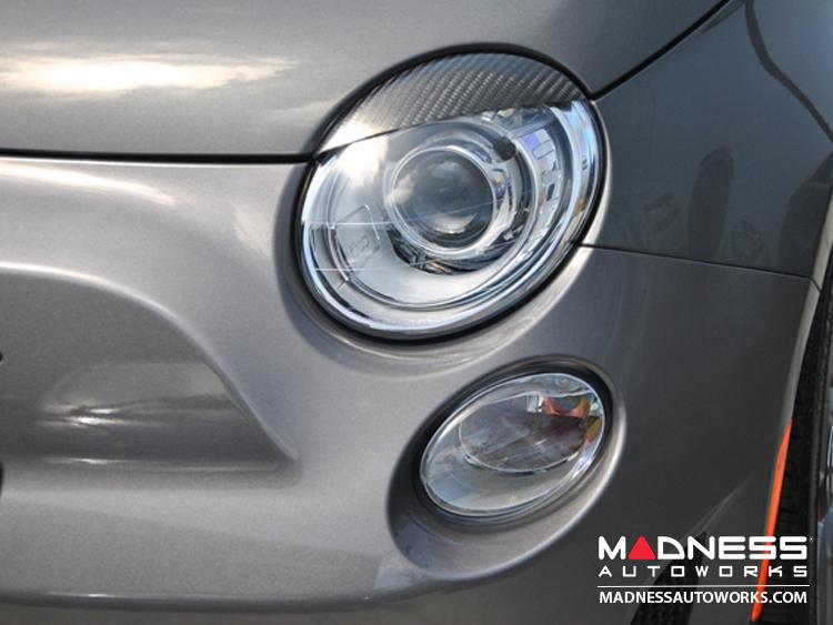 FIAT 500 Eye Brows - Carbon Fiber