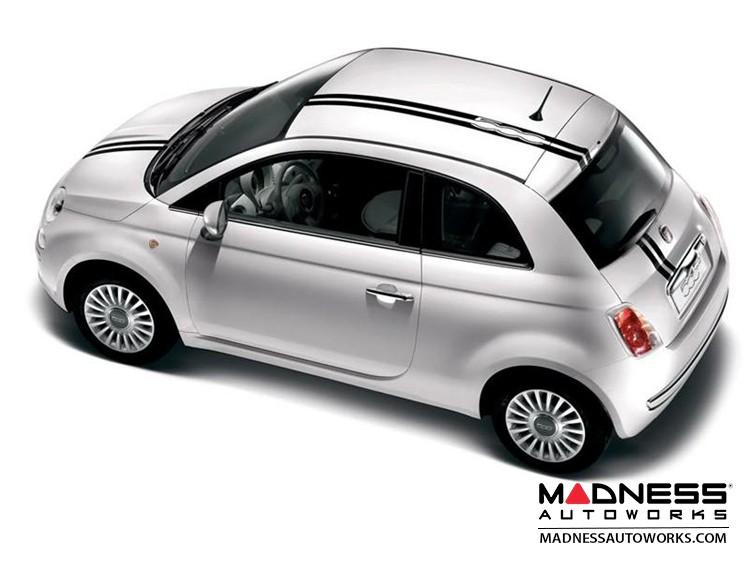 FIAT 500 Graphics - 500 Logo Stripes - White