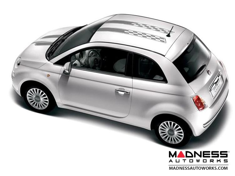 FIAT 500 Graphics Kit -  Checkered Rally