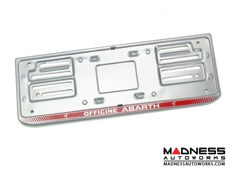 European License Plate Mounting Frame - OFFICINE ABARTH (36 x 11cm)