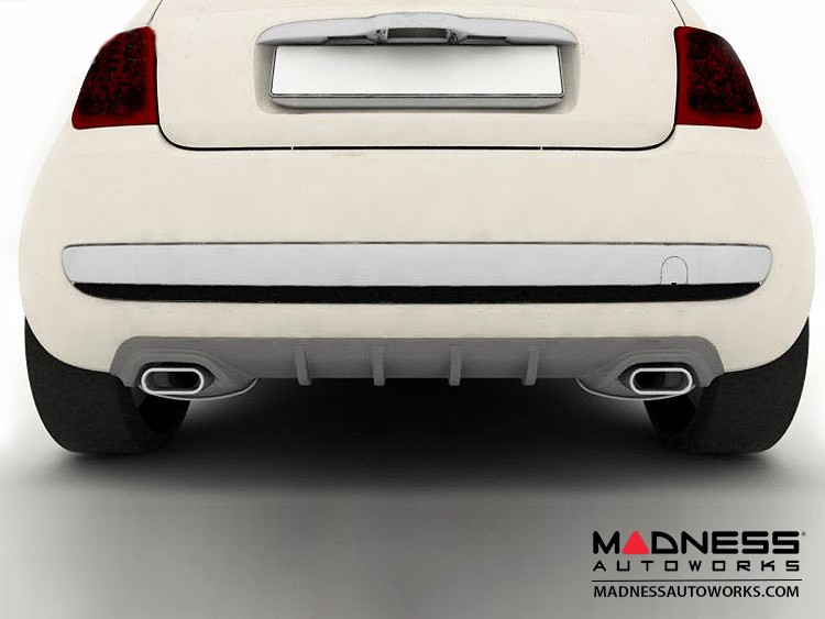 FIAT 500 Diffuser - Dual Exit Design - Add On - FRP - Magneti Marelli