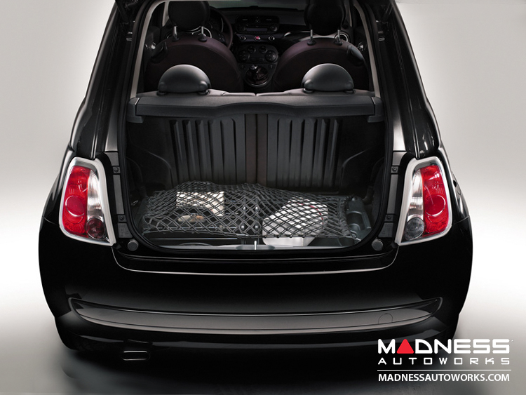 fiat 500 luggage compartment retaining net fiat 500. Black Bedroom Furniture Sets. Home Design Ideas