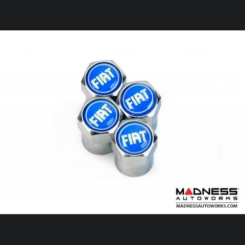 Valve Caps - set of 4 - Blue FIAT Logo - v1