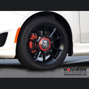 "FIAT 500 Wheels (set of 4) - ABARTH 16"" - Custom Powder Coated in Satin Black"