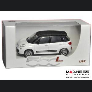 FIAT 500L Die Cast Model 1/43 scale - White w/ Black Top by FIAT