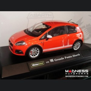 FIAT Grande Punto ABARTH Model 1:24 Red with White Stripes
