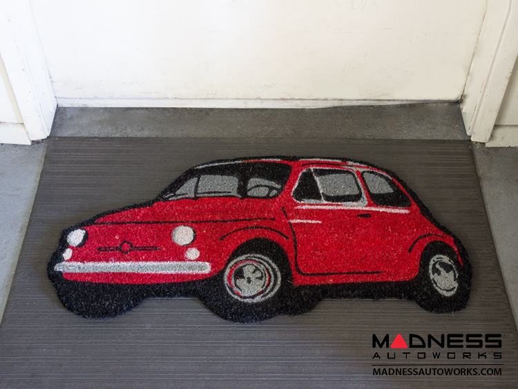classic fiat 500 doormat red fiat 500 parts and. Black Bedroom Furniture Sets. Home Design Ideas