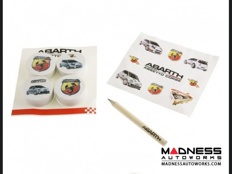 ABARTH ASSETTO CORSE Eraser/ Decal/ Pencil Set