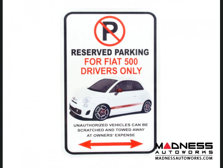 FIAT 500 Parking Only - Metal Sign
