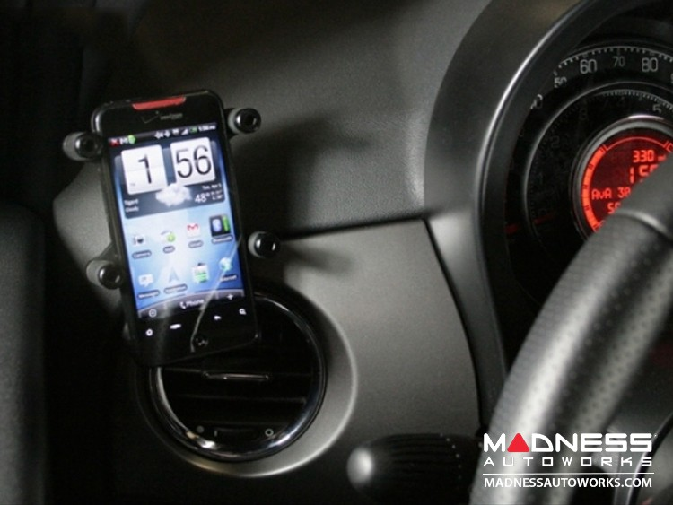 FIAT 500 Mobile Cradle for cell phones -  Dash Vent Mounting Style