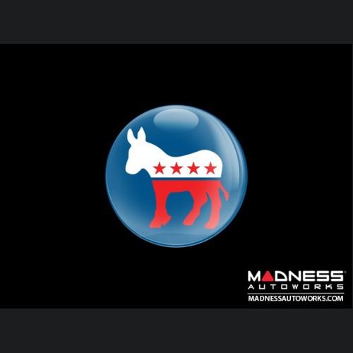 Grill Badge -  Democrat Donkey