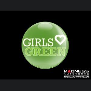 Grill Badge - Girls Love Green