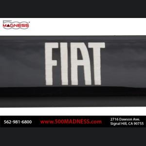 FIAT 500 License Plate Frame (Wideplate) - Black w/ FIAT Logo