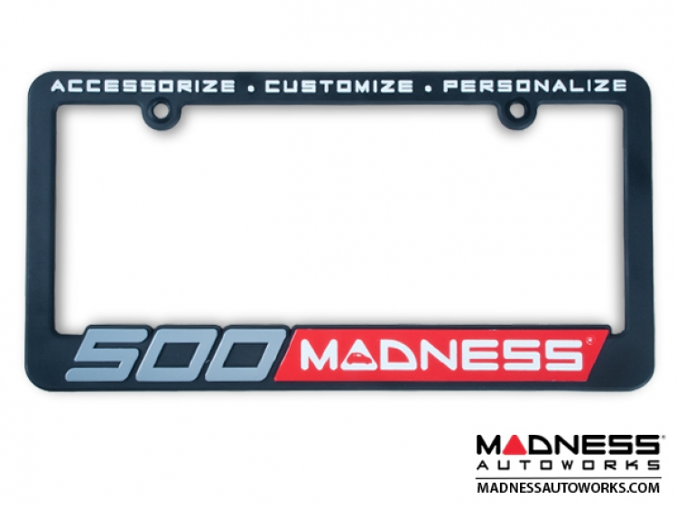 500 MADNESS License Plate Frame (1) - Black