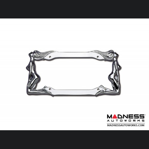 License Plate Frame - Twins in Chrome