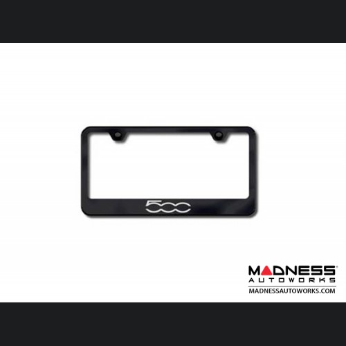 License Plate Frame (Standard) - Black w/ 500 Logo