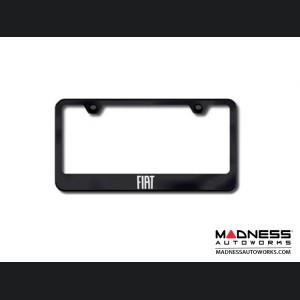 License Plate Frame - Standard - Black w/ FIAT Logo
