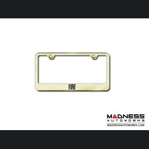 FIAT License Plate Frame (Standard) - Gold Finish
