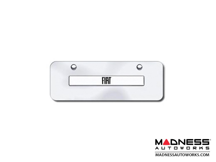 License Plate - Mini - Stainless Steel Plate w/ FIAT Logo