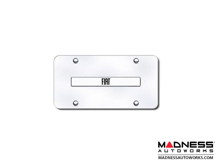 FIAT 500 License Plate - Stainless Steel Plate w/ Embossed FIAT Logo