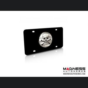 License Plate - Stainless Steel Plate - Skull Logo