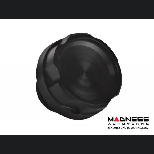 FIAT 124 Oil Cap - Black Anodized Billet