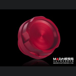 FIAT 500 Oil Cap - Red Anodized Billet - Scratch and Dent