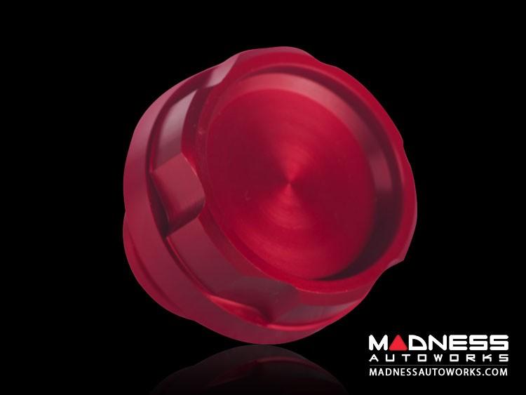 FIAT 500L Oil Cap - Red Anodized Billet