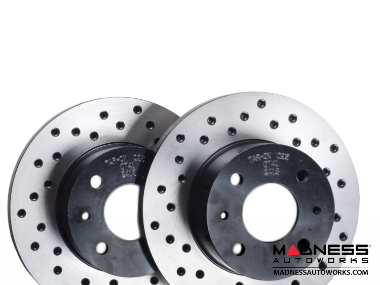 fiat 500 abarth 500t 500 brake rotors by tarox rear fiat 500 parts and accessories. Black Bedroom Furniture Sets. Home Design Ideas