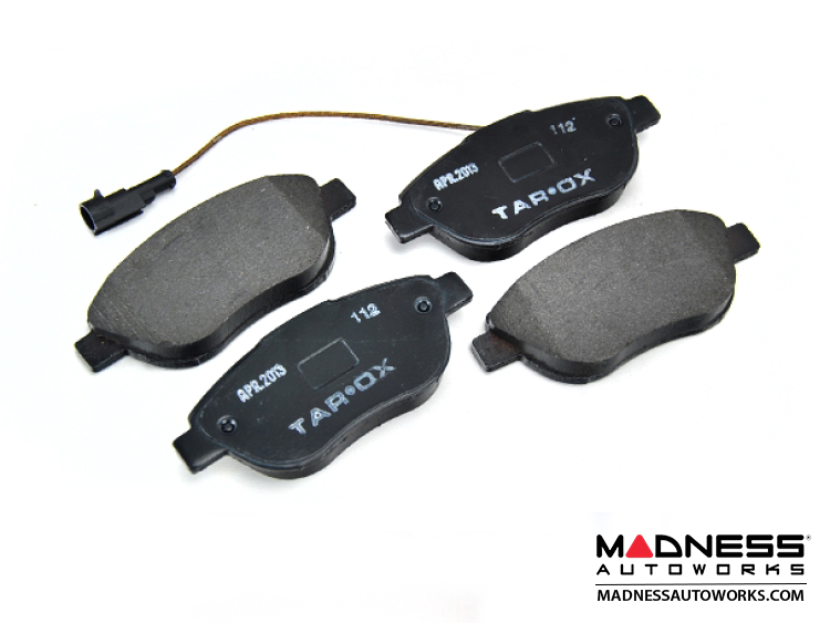 fiat 500 abarth 500t brake pads by tarox strada fast road pads front fiat 500 parts and. Black Bedroom Furniture Sets. Home Design Ideas