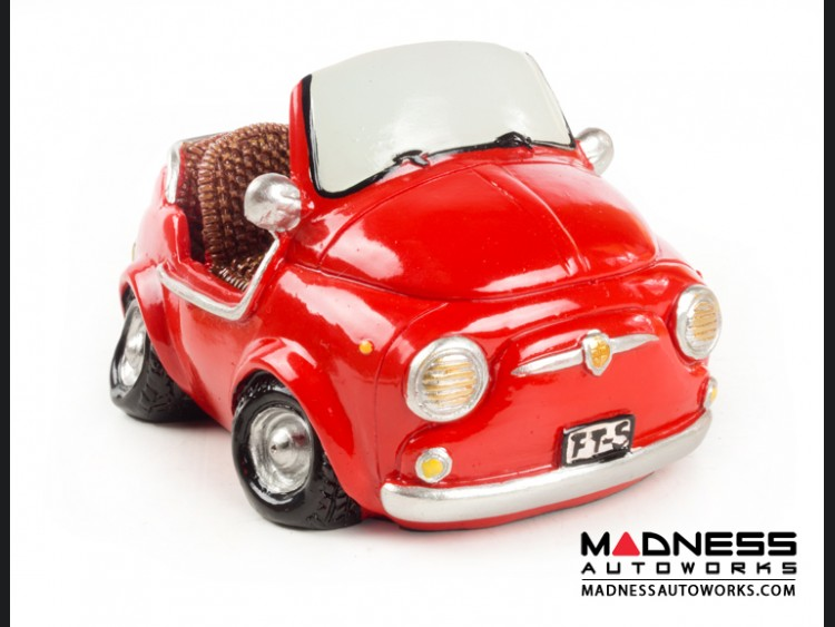 Classic Fiat 500 Jolly Piggy Bank - Red