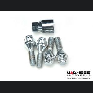 FIAT 500 Wheel Locks - Chrome